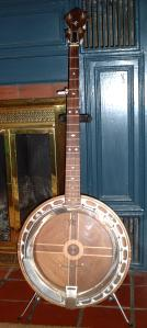 the front of the banjo